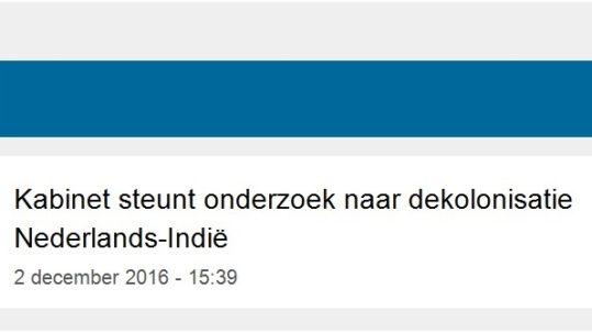 News Kabinet steunt onderzoek NL Indie